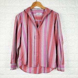Diane von Furstenberg Vintage Striped Button Down